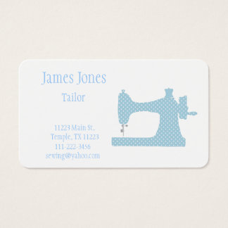 Blue & White Sewing Machine Tailor Business Card