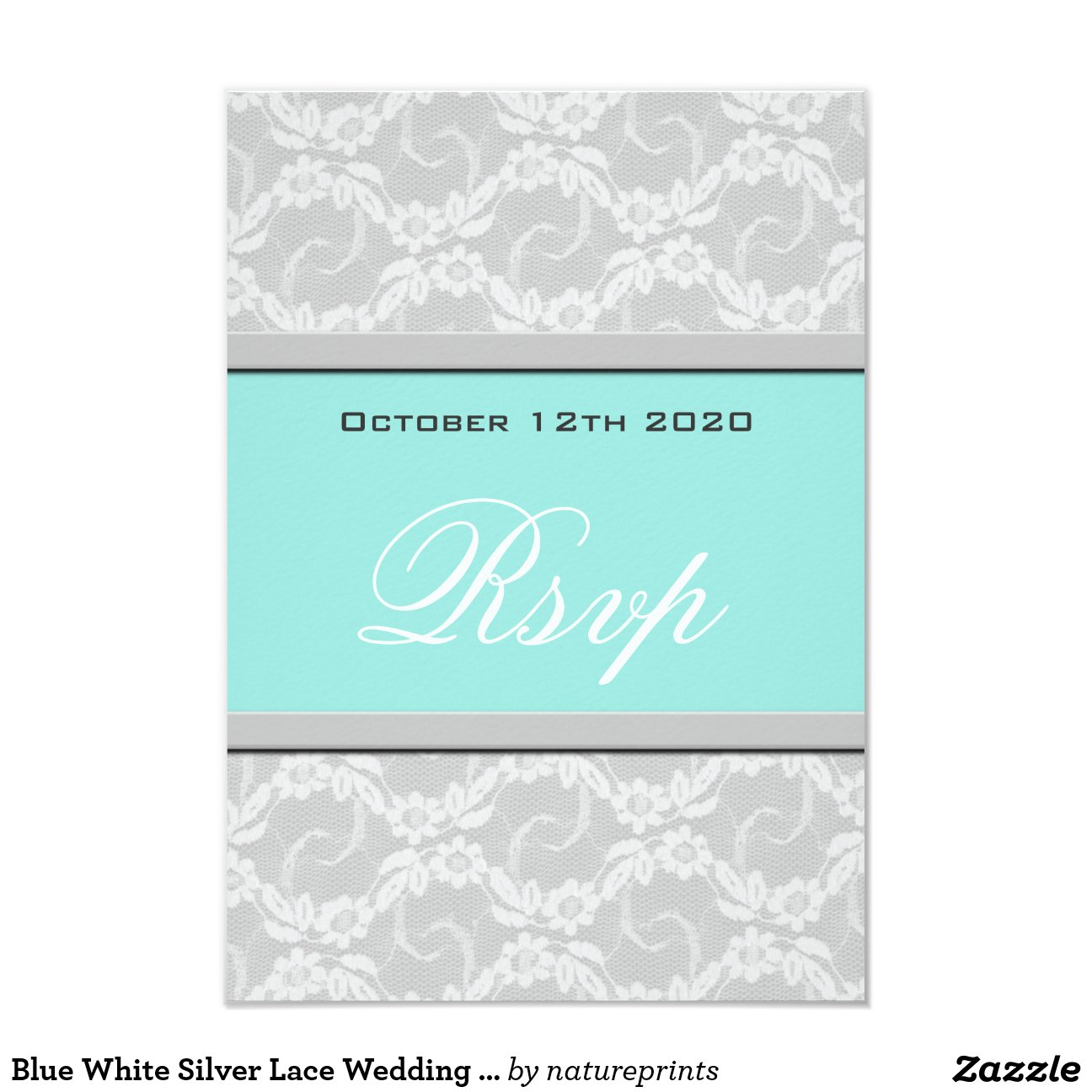 Blue White Silver Lace Wedding Royal And Background