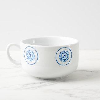 Blue White Soup Bowl Soup Mug