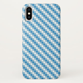 Blue-white squares background iPhone x case