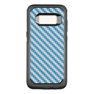 Blue-white squares background OtterBox commuter samsung galaxy s8 case