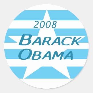 Blue, White Star Obama Sticker