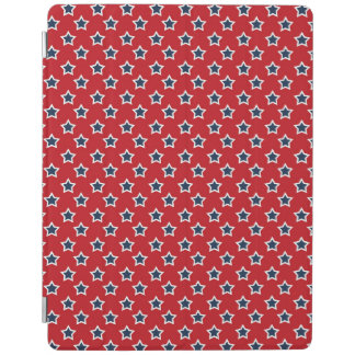 Blue & White Stars on Red iPad Cover