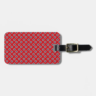 Blue & White Stars on Red Luggage Tag