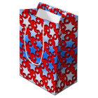 Blue White Stars on Red Medium Gift Bag