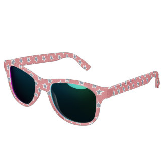 Blue & White Stars on Red Sunglasses