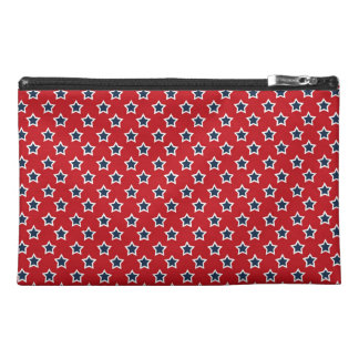 Blue & White Stars on Red Travel Accessory Bags