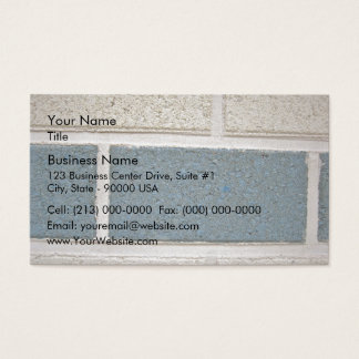 Blue White Stone Brick Wall Texture Business Card