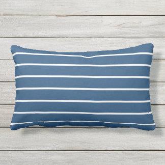 Blue White Stripe Classic Nautical Design Throw Pillows
