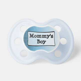 Blue & White striped Mommy's Boy Baby Pacifier