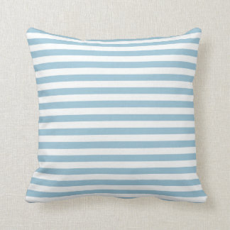 Blue White Striped Pillow
