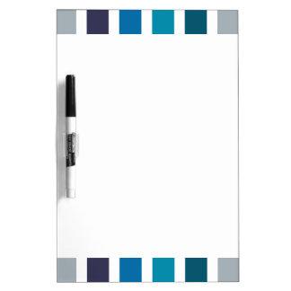 Blue White Stripes Pattern Dry Erase Board