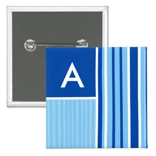 Blue & White Stripes; Striped Pin