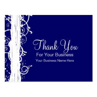 Blue & White Swirls :: Business Postcard Template