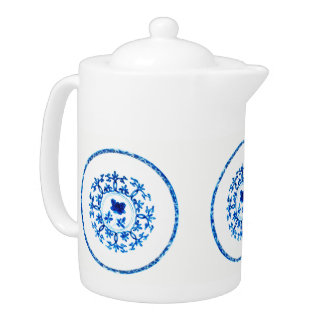 Blue White Teapot