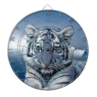 Blue White Tiger Dartboard