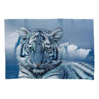 Blue White Tiger Pillowcase