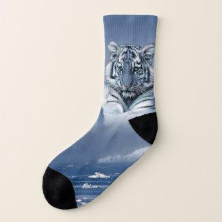 Blue White Tiger Socks