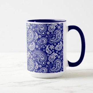 Blue & White Vintage Floral Paisley Design Mug