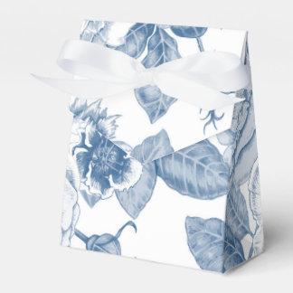 blue white Vintage floral party favor box