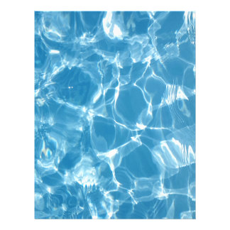 Blue White Water Top  Ripples Letterhead