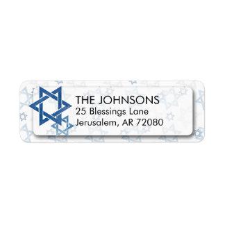 Blue & White Watercolor Star of David Hanukkah