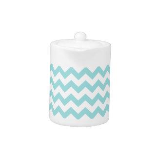 Blue White Zigzag Stripes Chevron Pattern