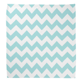 Blue White Zigzag Stripes Chevron Pattern Bandana