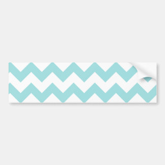 Blue White Zigzag Stripes Chevron Pattern Bumper Sticker