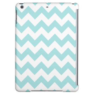 Blue White Zigzag Stripes Chevron Pattern Case For iPad Air