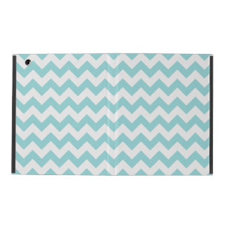 Blue White Zigzag Stripes Chevron Pattern Covers For iPad
