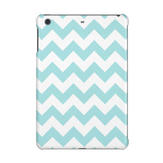 Blue White Zigzag Stripes Chevron Pattern iPad Mini Retina Case