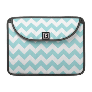 Blue White Zigzag Stripes Chevron Pattern Sleeves For MacBooks
