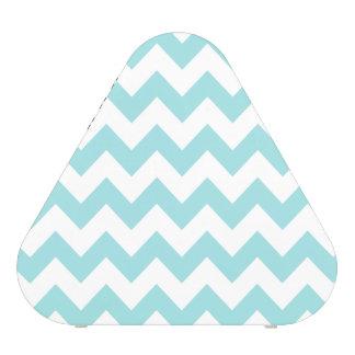 Blue White Zigzag Stripes Chevron Pattern Speaker