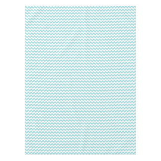 Blue White Zigzag Stripes Chevron Pattern Tablecloth