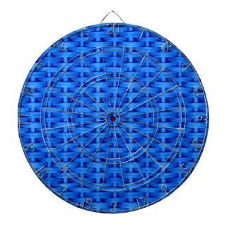 Blue wicker art graphic design dartboard