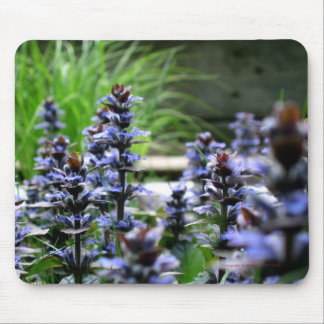 Blue Wild Flowers Mouse Pad