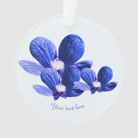 Blue Wild Flowers Ornament