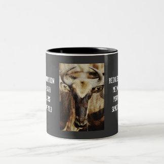 Blue Wildebeest / Gnu funny humoros coffee mugs