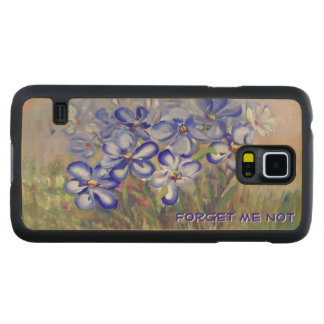 Blue Wildflowers in a Field Fine Art Painting Carved® Maple Galaxy S5 Case