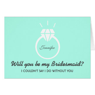 Blue Will You Be My Bridesmaid Invitation