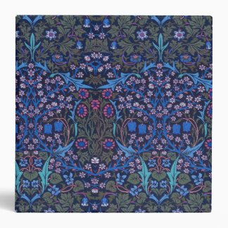 Blue William Morris Art Nouveau Binder