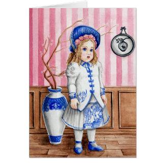 'Blue Willow Bru' Greeting Card