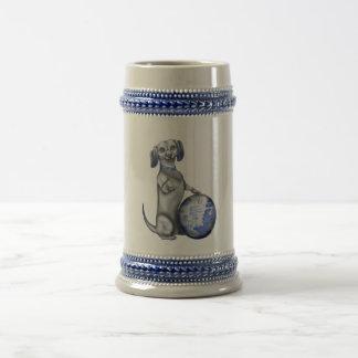 Blue Willow Dachshund Stein