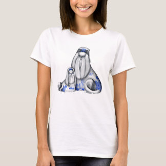 Blue Willow Shih Tzus Shirt