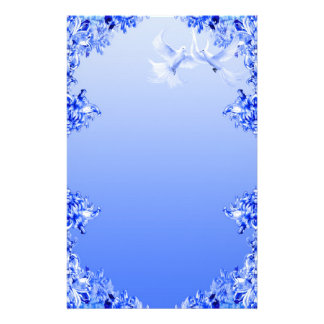 """Blue Willow World"" 16 Stationery Paper"