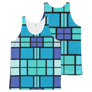 Blue window design All-Over-Print tank top