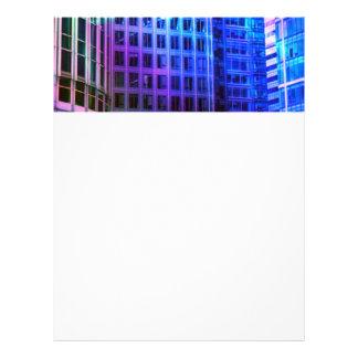 blue windows letterhead design
