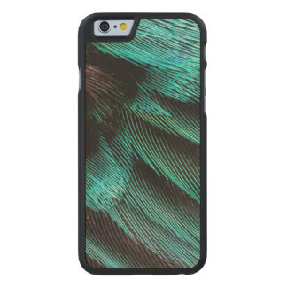 Blue Wing Covert feathers Carved® Maple iPhone 6 Slim Case