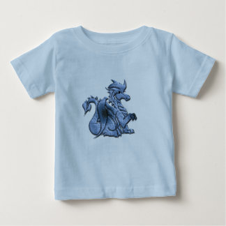 Blue Winged Dragon Baby T-Shirt